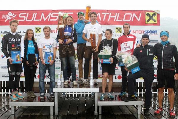 Sulmsee Triathlon 2014 Sieger - Gruppenfoto