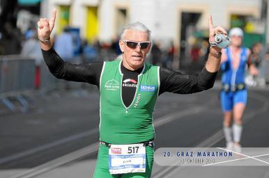 Erich Zimmermann beim Graz Marathon 2013
