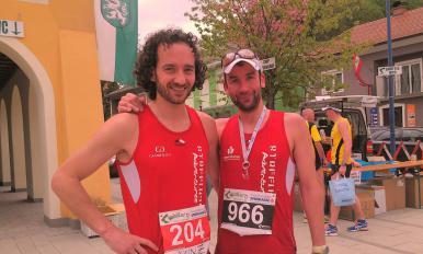 Vinzenz Kumpusch und Christian Kleineberg nach dem Welschmarathon 2013