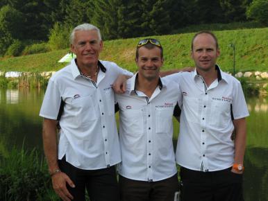 Erich Zimmermann, Ludwig Huber und Rudi Bayer beim Mürztaler Naturpark-Triathlon